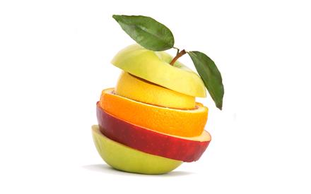 میوه های نیم خورده