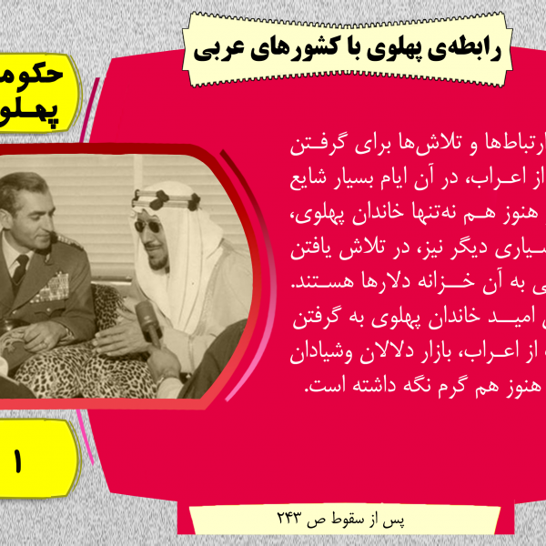 رابطه ی پهلوی با کشور عربی